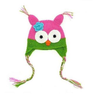 Vlnená čiapka (ušianka) – sova Matilda (rôzne farby)
