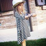 Pruhované šaty pre mamičku a dcérku (rodinné oblečenie)