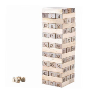 Drevená číselná veža – Jenga (veľká)