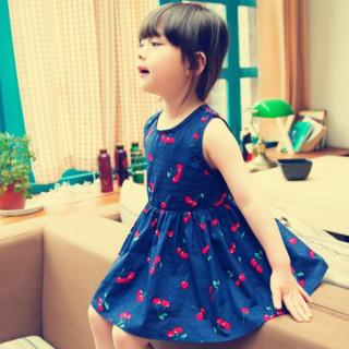 Čerešňa šaty pre mamičku a dcérku (rodinné oblečenie)