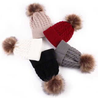 Zimné čiapky pre mamičku a dieťa (rôzne farby)