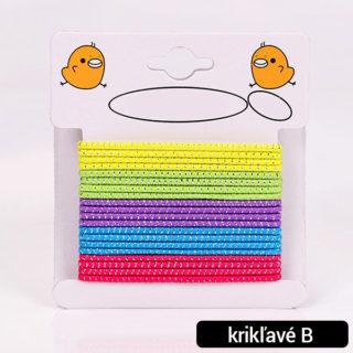 Farebné gumičky do vlasov 20ks (rôzne farby)